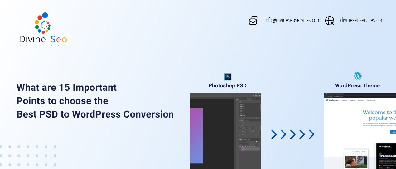 Best PSD to WordPress Conversion